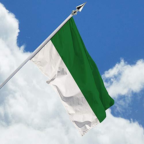 Deitert Schützenfahne grün weiß gestreift – 80x120 cm Haushängefahne für Schützenfest, Schützenflagge aus reißfestem Polyester, mit Doppelsicherheitsnaht gesäumt