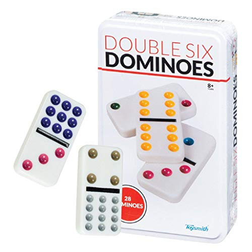 Cardinal Industries Giochi Classici Collezionisti doppi 6 Colore Dot Dominoes a Tin [importato da UK]