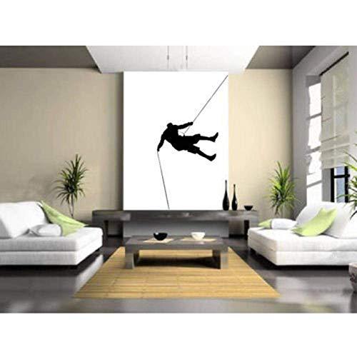 Adesivo da parete Adesivo da parete Sport arrampicata su roccia Adesivo da parete alla moda Decor Wall Sticker Wallpaper 55X102Cm
