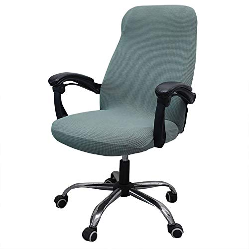 Melaluxe Office Chair Cover - Universal Stretch Desk Chair Cover, Computer Chair Slipcovers (Size: L) - Sage