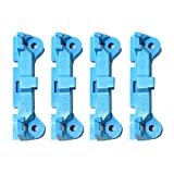 RLECS 4pcs Plastic CPU Fan Retainer Bracket Base Parts for AM2 AM3 FM1/2/2+/3 for PC Heat Sink Cooling Fan Mounting, Blue