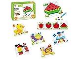 Juinsa Puzzle encajable plástico 128 Piezas 22x16cm, Multicolor (96757)