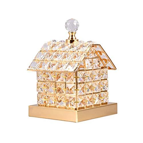 WEM Lámparas de mesa LED Sala de estar, 3 modos de iluminación Decoración de cristal Luz nocturna para dormitorio [Mesita de noche] Sala de estar [Restaurante] -Interruptor de control remoto a,Interr