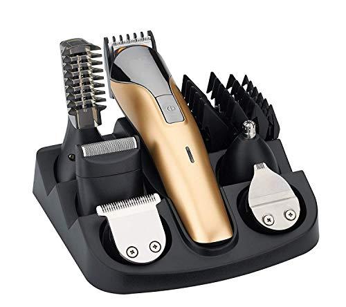 Freestyle Maquinilla de afeitar profesional 11 en 1 para hombres Afeitadora de afeitar eléctrica recargable Secador de afeitar seco Trimmer de nariz Trimmer de barba Set de Afeitado Multifunción