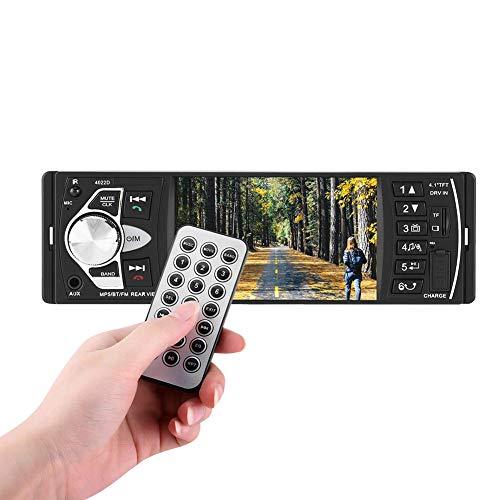 Auto MP5 Player, 4.1 Zoll HD Bluetooth Auto MP5 Video Player Musik-Player FM Radio Freisprecheinrichtung AUX TF USB Wireless Remote Control(Ohne Kamera)