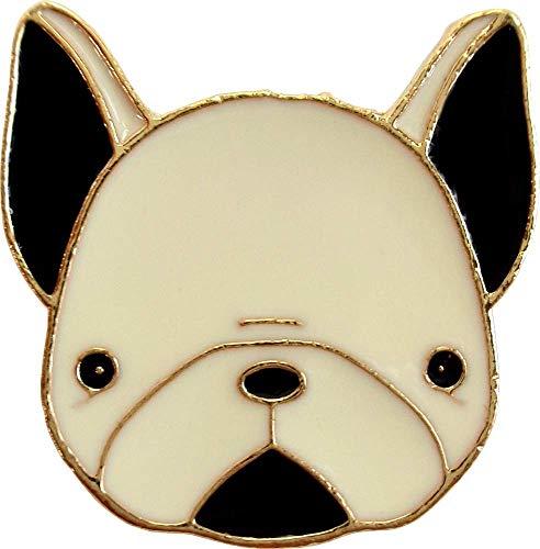 Black & White French Bulldog Enamel Pin