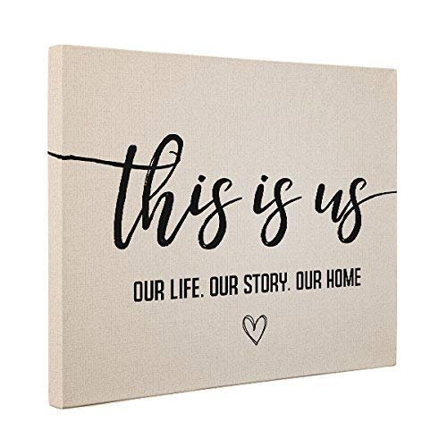 This Is Us Wedding Anniversary Canvas Wall Art