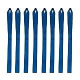 LOVIVER 8X Correas de Lazo Suave para Remolque de Carga Barco Corto vehículo pequeño Movimiento de Color Azul - 32cm