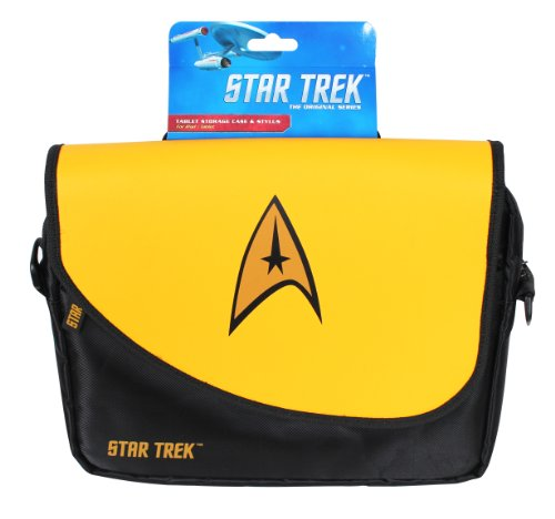 ORB Star Trek Umhängetasche/ Messenger Bag für Notebooks mit bis zu 10Zoll/ 25,4cm, Gelb