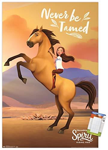 Trends International Poster Mount DreamWorks Spirit – Life, 58 x 86 cm, Poster & Passepartout