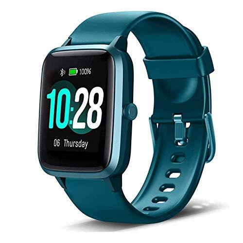 Smartwatch, Fitness Armband Tracker Voller Touch Screen IP68 Wasserdicht Schrittzähler Uhr Damen Herren Kinder Aktivitätstracker mit Pulsuhren, GPS Armbanduhr Sportuhr Smart Watch für iOS Android