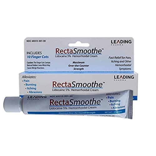 Lidocaine 5% Hemorrhoid Treatment by RectaSmoothe   Maximum Strength...