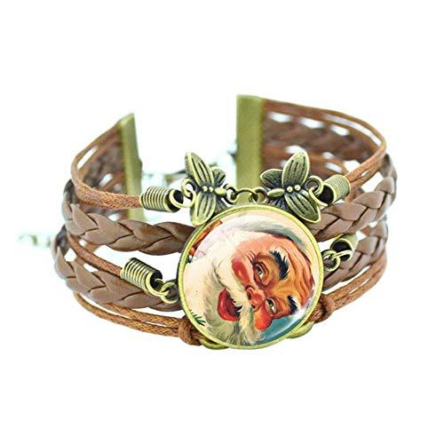 Wintermode Weihnachten Armband Für Frauen Weihnachtsmann Herz Schneeflocke Form Armband Mehrere Stil Schmuck, style4