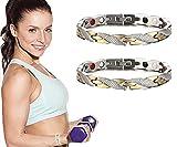 2Pcs Elegant Magnetic Therapy Fit Plus Bracelet (Mix)