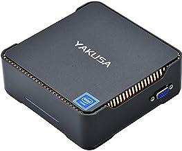 YAKUSA Mini PC Windows 10 64-bit Intel Celeron Apollo Lake J3455 Processor(up to 2.3GHz) 6GB RAM/120GB mSATA SSD/2.4G+5G Dual WiFi/Gigabit Ethernet/4K
