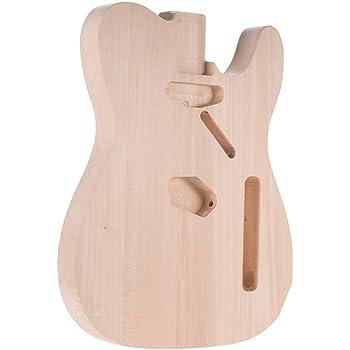 Muslady Cuerpo de Guitarra Eléctrica de Bricolaje Material de Tilo ...