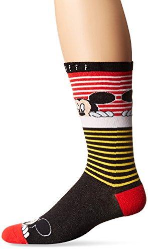 Disney Men's Neff Peek Mickey Mouse Sock, Red, One Size