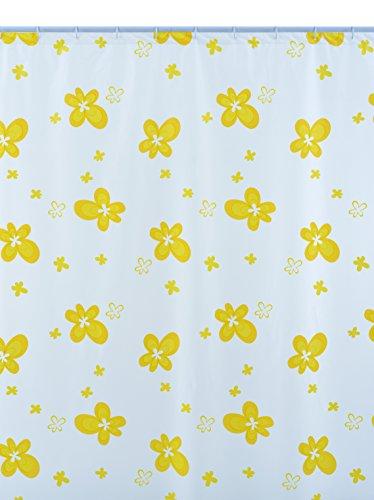 Shark 010/336081 douchegordijn, vinyl, 240 cm x hoogte 200 cm, wit/geel