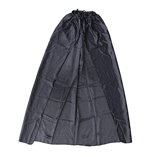 TENDYCOCO Halloween Umhang Seidenfarbener Schamane Todesmantel für Erwachsene - Größe XL (Schwarz)