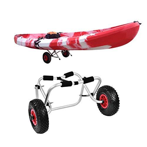 Zerone Kajak-Trolley, faltbar, Aluminium, für Boote, Kajak, Kanu, Trailer, Transportwagen mit Gurt, 80 kg Tragkraft