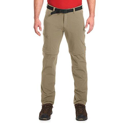 Maier Sports Tajo 2 Pantalon de randonnée avec Fermeture éclair Homme, Kaki, Taille 34