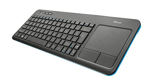 Trust Veza Wireless Touch Multimedia Keyboard for Laptop, PC, Smart TV or Game Console (UK Version)