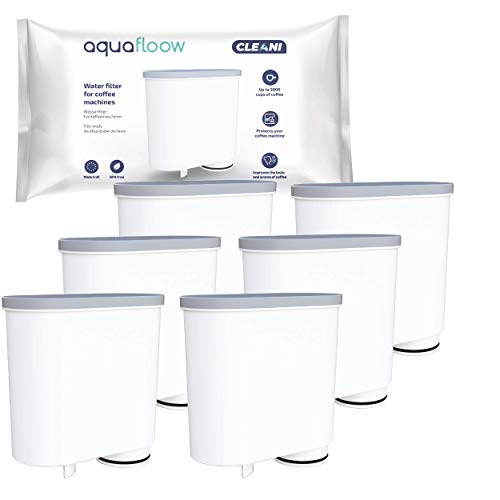 Aquafloow Wasserfilter kompatibel mit Philips AquaClean CA6903/10 CA6903/22 CA6903 Kalkfilter, Aqua Clean Filterpatrone für Philips Kaffeevollautomaten, 6er Pack