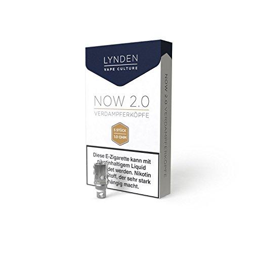 Lynden Now 2.0 Ersatz Verdampferköpfe 5er Packung 1,0 Ohm