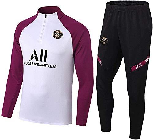AWMSSR voetbaltraining trainingspak per uomo - Set di magliette in poliestere bekleding Warme sportkleding-XXL_Khaki