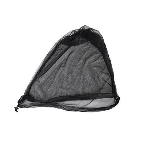 Générique Non-Brand Filet Net Anti-moustiques Insecte pour Tête Chapeau Voyage Camping - Noir