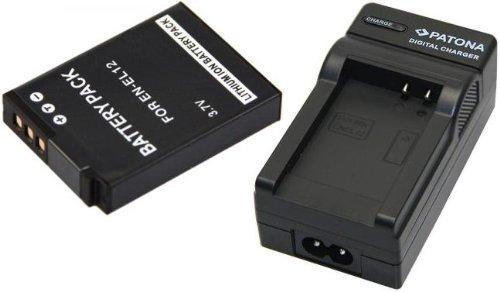 Akku (baugleich Nikon EN-EL12) + 1x Ladegerät SET für die NIKON Coolpix S9500 S9400 S31 S800c S9100 S8000 S8100 S8200 P300 P310 P330 S6150 S6200 AW100 AW110 inklusive Kfz- / Autoladegerät