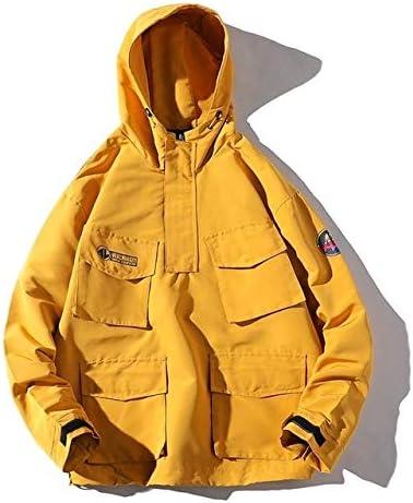 krystal bugarin Hip Hop Jacket Men Patchwork Color Jacket Tracksuit Casual Streetwear Long Sleeve Coat Men Windbreaker