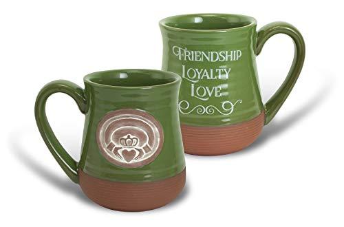 Cathedral Art Irish Mug - Claddagh Friendship Loyalty Love, Multicolored