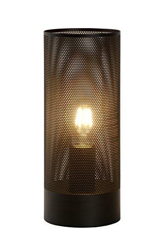 Lucide BELI - Lampe De Table - Ø 12 cm - Noir