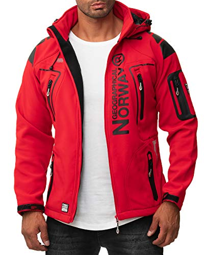 Geographical Norway Herren Outdoor Jacke Techno-bans red S