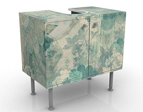Apalis Waschbeckenunterschrank Eisblumen 60x55x35cm Design Waschtisch, Größe:55cm x 60cm