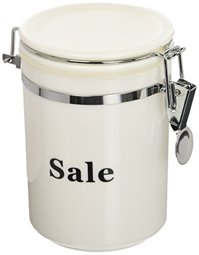 Excelsa Black & White voorraaddoos zout, kunststof, wit/zwart, 0,72 cl