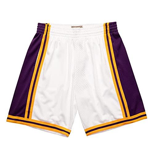 Mitchell & Ness NBA Reload Swingman - Pantalones cortos La Lakers White XL