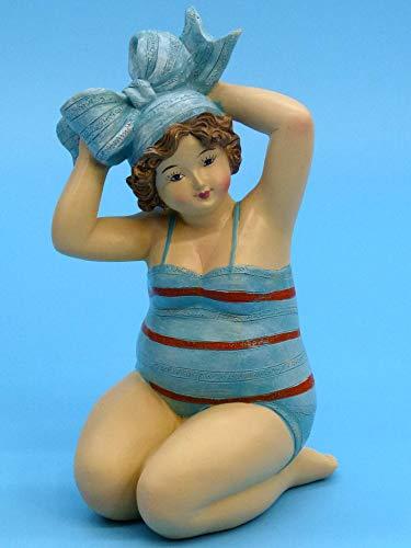 POMMERNTRAUM ®  ❤ Dekorationsfigur Dicke Dame   Dicke Maritime Badenixe   Mollige Badelady   Dicke Nana   Dicke Lady   Mimmi