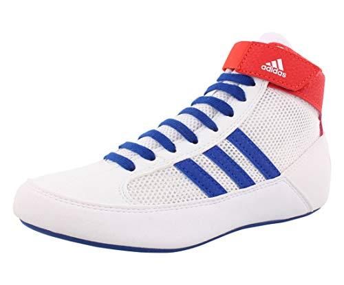 adidas HVC Wrestling Shoe, White/Blue/Red, 3 US Unisex Little Kid