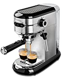 MICHELANGELO 15 Bar Espresso Machine with Milk Frother, Expresso Coffee Machines, Stainless Steel Espresso Maker for Cappuccino and Latte, Small Coffee Maker with Frother - Compact Design for Home