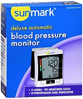 Sunmark Deluxe, Wrist Blood Pressure Monitor - 1 ct, Pack of 4