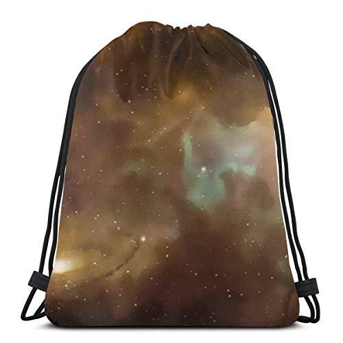 OPLKJ Unisexe Sacs à cordon, Dusty Nebula Spiral Pliant Sac à dos Sac de sport Cinch Bag Storage Bages Pour Femme Sport Gym Sack Voyager Multifunctional Drawstring Sac à dos