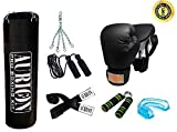 Aurion 4-Feet Punch-Combo-2 Unfilled Heavy Punch Bag with Accessories (Combo of 6), 4