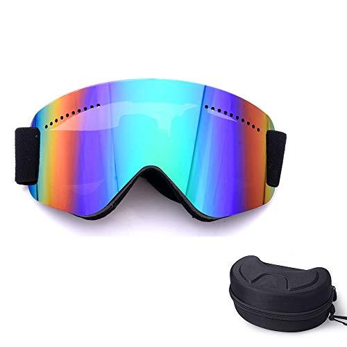 ZXLIFE@@@ 180 ° panoramablick frameloze skibril, OTG-skibril met anti-wind design, snowboardbril voor mannen, vrouwen, volledige beschermogen groen