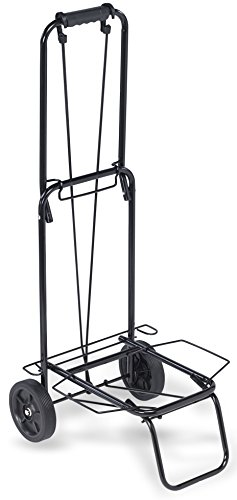 'TOP PACK' 75 lbs.Premium Folding Lightweight Shopping Grocery Luggage laundry Cart - Black