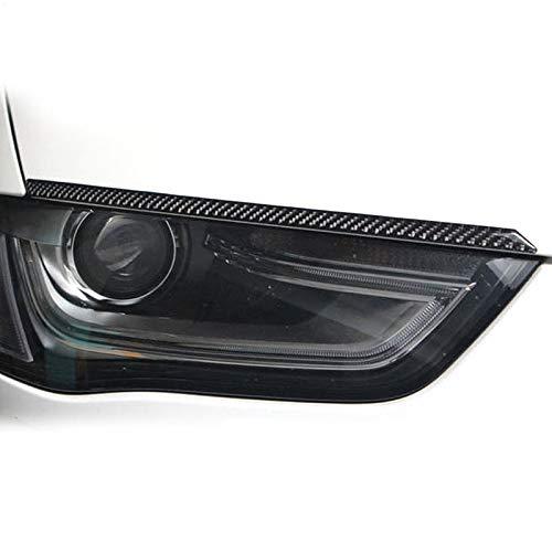 YXSMTB Koolstofvezel koplampen Wenkbrauwen Oogleden Auto-ontwerpstickers.Voor Audi A4 A5 Koplamp Wenkbrauwen 2009 2016 Auto-accessoires