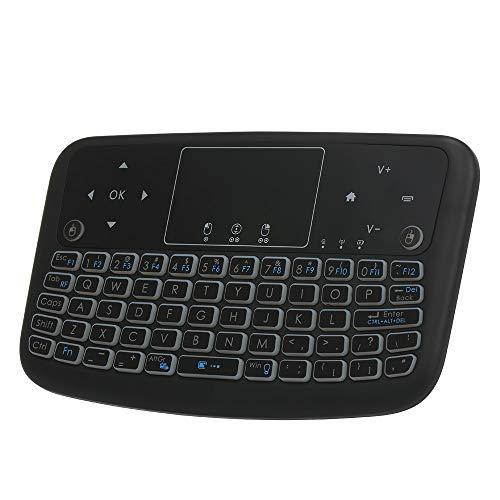 docooler Tastiera Wireless 2,4 GHz Telecomando per Mouse Touchpad per Android TV Box Smart TV Notebook per PC (retroilluminazione)