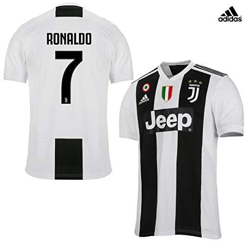 Juventus Maglia Ronaldo Gara Home Ufficiale 2018/19 - Originale - Bambino - Patch Scudetto e Coppa Italia Sempre Incluse - Taglia 140 cm 9/10 Anni - Nessuna Patch
