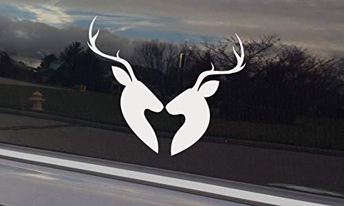 Herten kussen Sticker voor auto raam of laptop plaatsing